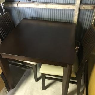配達可 ハイタイプこたつダイニング3点セット 食卓テーブルチェア