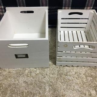 アンティーク調ボックス(小物入れ)2個セット