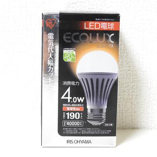 LED電球 アイリスオーヤマ ECOLUX 電球色 40W相当 E...