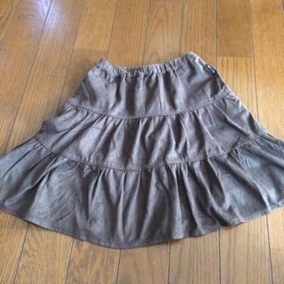 110 コムサイズム フェイクレザー風スカート