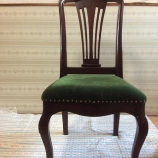 伊製 椅子 チェアー 3脚セット アンティーク風 ネコ足