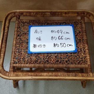 籐家具のおしゃれテーブル