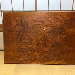 木の暖かみある 本格木製ちゃぶ台 ②