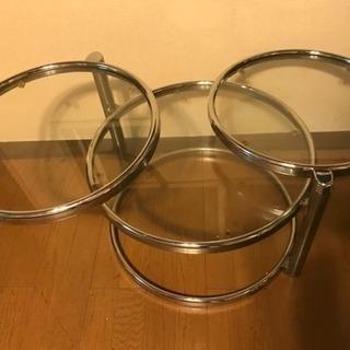 ガラステーブル 丸 デザインテーブル