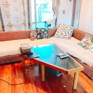 アジアンソファ  テーブル