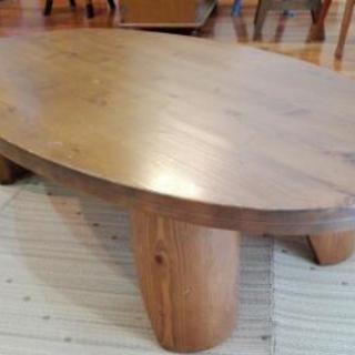 ◆お値下げ◆天然木 折りたたみローテーブル