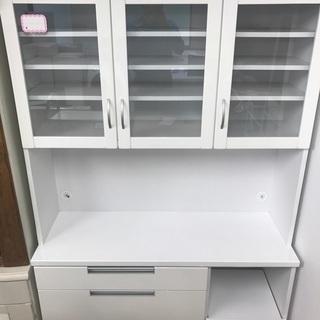 人気ホワイト食器棚 中古 リサイクルショップ宮崎屋17.10.19