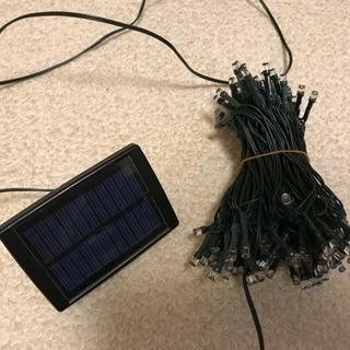 ソーラーデコレーションLEDライト120灯 ジャンク品