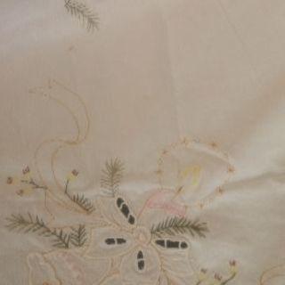 ヨーロッパで手に入れた 刺繍テーブルクロス (クリスマス5)