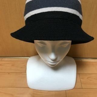【千円帽子❗️②ボーダー❗️】ブラック&グレー&ホワイト、ボーダー...