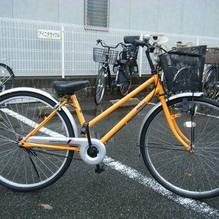 中古自転車51(防犯登録無料)前後タイヤ交換! シティサイクル 2...