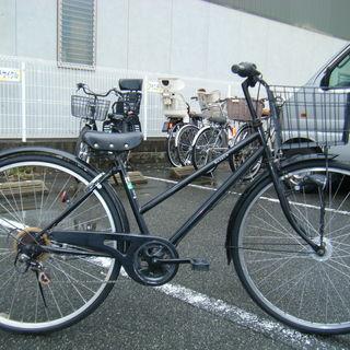 中古自転車52(防犯登録無料)前後タイヤ交換! シティサイクル 2...