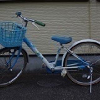 交渉中 ブリジストン 22インチ 水色 女の子用自転車