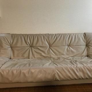 3人掛け収納付きベッドソファー