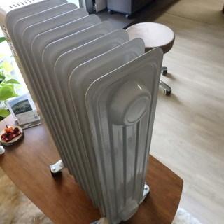 【暖房】オイルヒーター ☆温度変更/リモコンタイマー/チャイルドロック付