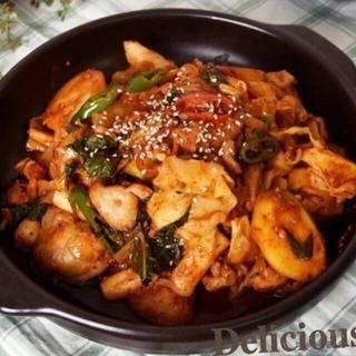 韓国料理教室「チーズタッカルビ」