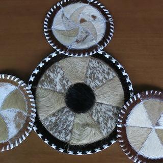 オーストラリアカンガルー毛皮マット 未使用 敷物 レザーラグ 革...