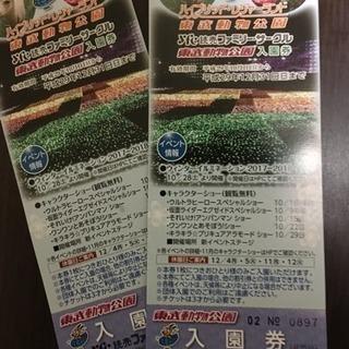 送料無料 東武動物公園 イルミネーション 入園券 今月中まで出品