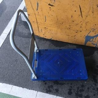 折りたたみ式 台車 ブルー 荷物移動、引越しなど
