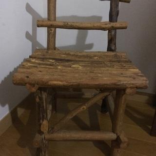 木製子供椅子 サイドテーブル