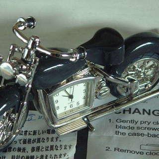 ★ジャンク★アナログ時計付き2輪バイクおもちゃ★GUARTZ★中古...