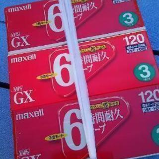 未使用保管品 maxellマクセル VHS T-120 GX 6...