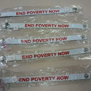 bracelets ''END POVERTY NOW''  10...