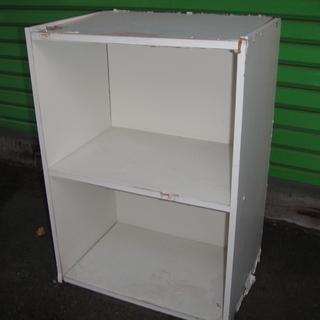 (UE023)2段カラーBOX ホワイト