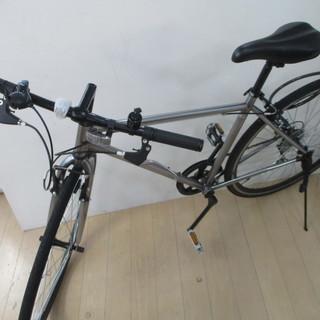 クロスバイク シルバー チャリ 自転車