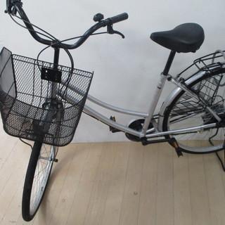 ウェルビー 自転車 26 インチ シルバー ママチャリ