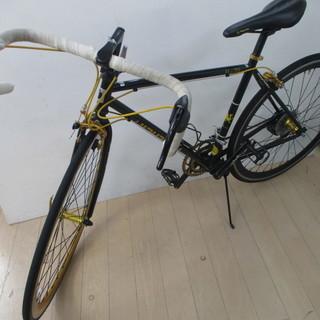 レイチェル ロードバイク R+713 チャリ ブラック ゴールド 自転車