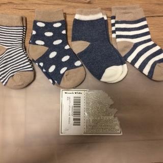 靴下 新品/未使用 4足 9-10cm(0-12ヶ月)