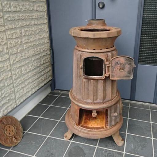 薪ストーブ 昭和 レトロ 古民家 アンティーク だるまストーブ ストーブ 鋳物製 , 和歌山市