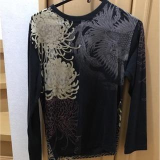 花旅楽団と華鳥風月の鳳凰刺繍のロングTシャツ