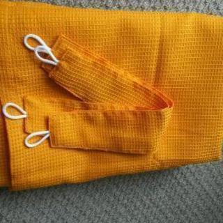 オレンジ色カーテン!【100㎝×150㎝ 2枚】