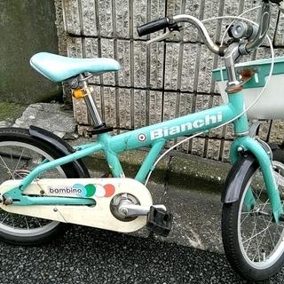 ビアンキ子供用16インチ中古自転車を無料で差し上げます