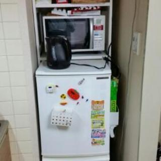 冷蔵庫+収納 10/29(日)引き取り! 無料です!