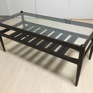 ガラス天板 コーヒーテーブル/ローテーブル