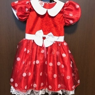 【ディズニー】ミニーちゃんのドレス 120センチ 髪飾り付
