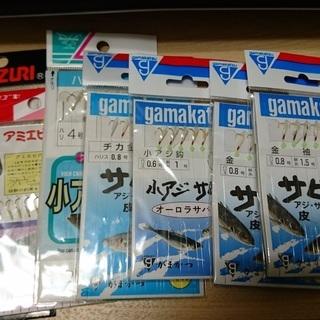 【取引中】サビキ用針4号まとめて8袋(全部未開封)