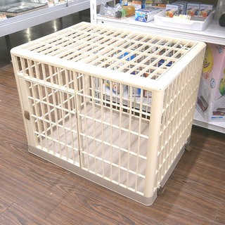 札幌 引き取り プラスチック ペットゲージ 小型犬用 良品 檻 サークル