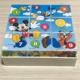 ミッキマウス 9コマキューブパズル