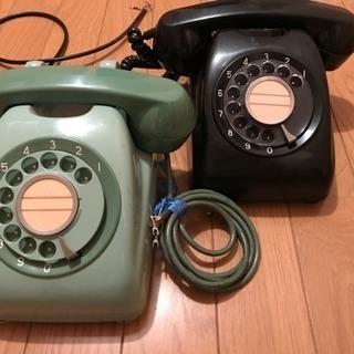 美品!アンティーク電話機  ダイヤル式黒電話機 昭和 大正
