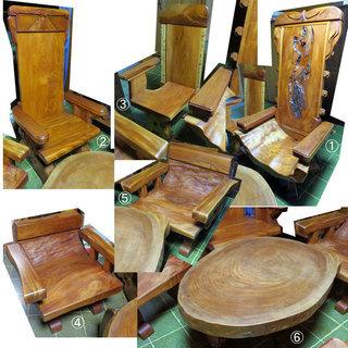 天然木 テーブル イス 6点セット 世界で1点のみ 製作者所有品