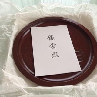 【未使用】鎌倉彫の菓子盆