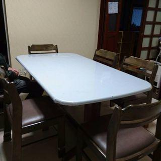 ダイニングテーブル&椅子6脚