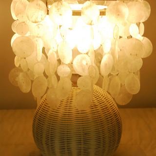 トヨスター 貝殻シェード白熱灯照明 380750 デスクスタンド ...