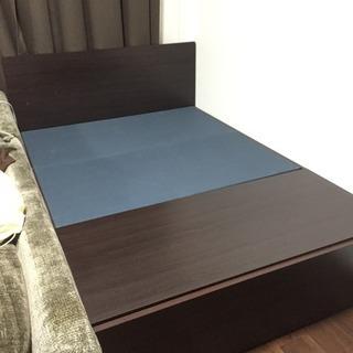 取引中【美品】ベッド台 ダブルベッド