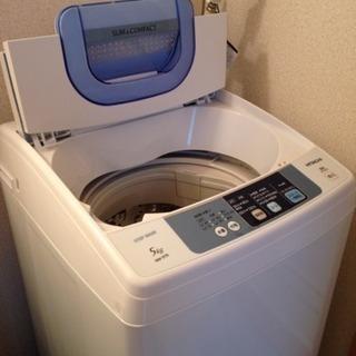 日立5kg洗濯機/モリタ110L冷蔵庫セット