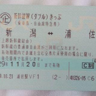 新潟↔️浦佐 新幹線片道チケット